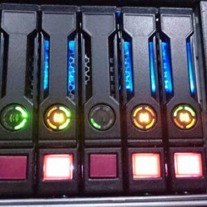 آشنایی با رنگ چراغ های هارد سرور HP